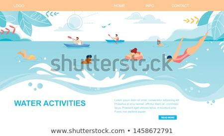 napsütés · vízalatti · illusztráció · víz · absztrakt · fény - stock fotó © robuart