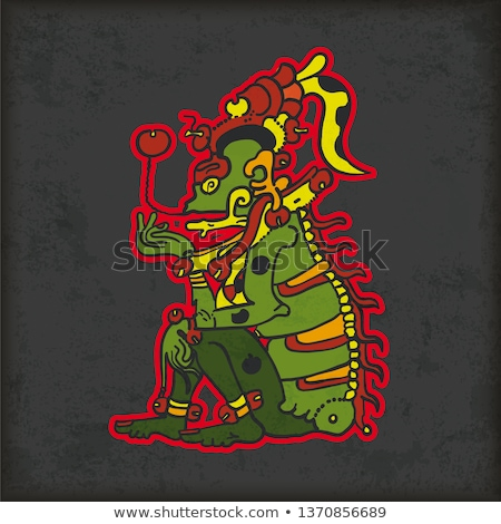 Vintage Mayan God Of Death Ah Puch Stock photo © limbi007