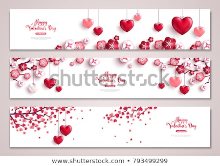 Set of Horizontal Banners about Valentines Day Stock photo © netkov1
