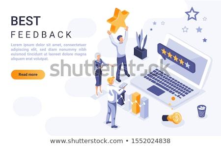 müşteri · geribesleme · eps10 · vektör · format · çalışmak - stok fotoğraf © rastudio