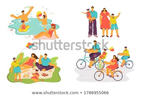 colorido · pipa · branco · ilustração · fundo · arte - foto stock © robuart