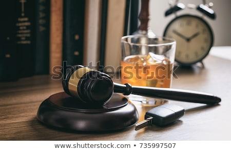 Lei gabela secretária preto Foto stock © AndreyPopov