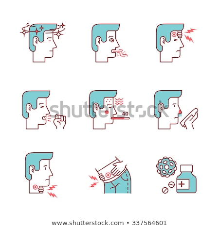 Bacteria Germ And People Vector Thin Line Icon Stock photo © pikepicture