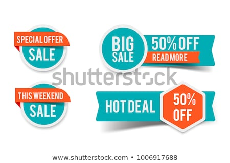 Wakacje etykiety weekend sprzedaży tag detalicznej Zdjęcia stock © robuart