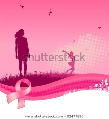 Рак молочной железы осведомленность женщины небе облака цифровой композитный Сток-фото © wavebreak_media