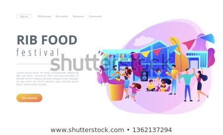 żywności festiwalu app interfejs szablon ludzi biznesu Zdjęcia stock © RAStudio