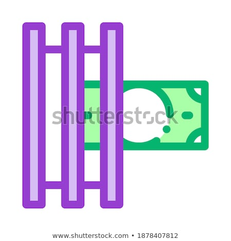 Fake Money Printer Icon Vector Outline Illustration Stock photo © pikepicture