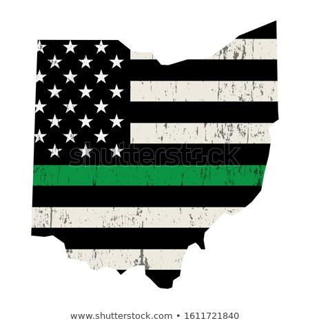 Ohio askeri destek amerikan bayrağı örnek biçim Stok fotoğraf © enterlinedesign