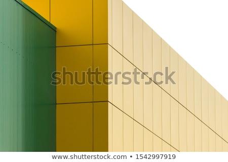 Géométrique couleur bâtiment façade bâtiment moderne Photo stock © boggy