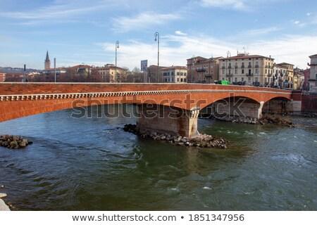 Ponte Navi on Adige river in Verona, Italy Stock photo © boggy