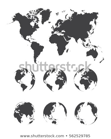 Asia and australia side of world map on globe, simple black icon Stock photo © evgeny89