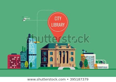 общественного библиотека баннер чтение книгах Сток-фото © RAStudio