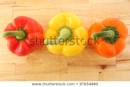 Bell or Sweet Pepper on Plate, Vegetables for Cook Stock photo © robuart