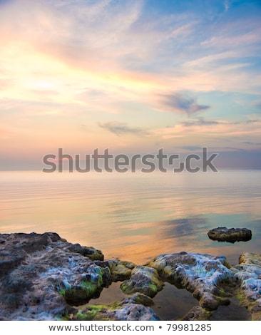красивой морской пейзаж природы закат небе лет Сток-фото © ruslanshramko
