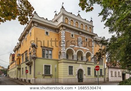 Erdőgazdaság iroda Magyarország épület tér ház Stock fotó © borisb17