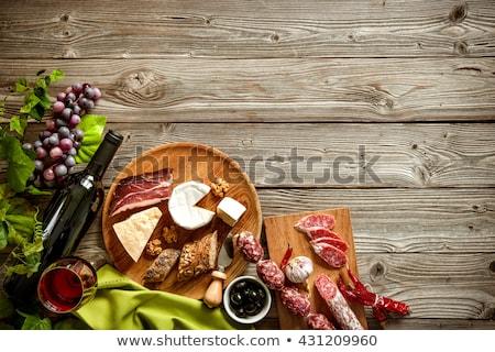 jambon · ahşap · masa · fotoğraf · lezzetli · maydanoz - stok fotoğraf © Francesco83