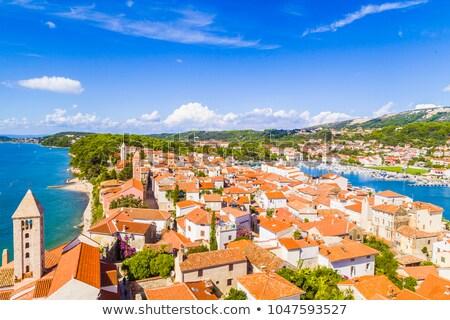 исторический · старый · город · город · острове · Хорватия · здании - Сток-фото © simplefoto