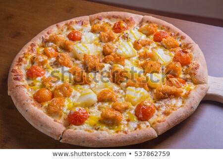 Korean style pizza Stock photo © dsmsoft