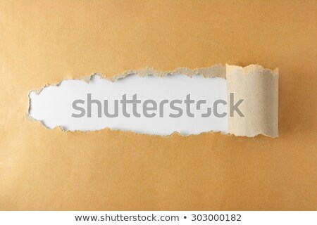 Brown package paper torn Stock photo © inxti