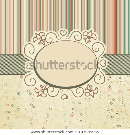 Vintage valentine card with cute hearts. EPS 8 Stock photo © beholdereye