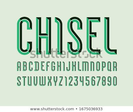 Alfabeto nero lavagna copia spazio bordo Foto d'archivio © dehooks