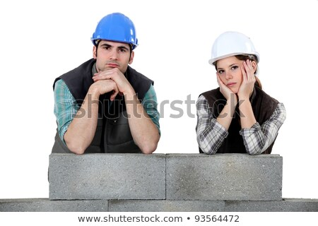 Unhappy team of bricklayers Stock photo © photography33