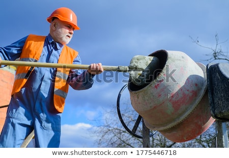 Bricklayer with spade Stock photo © photography33