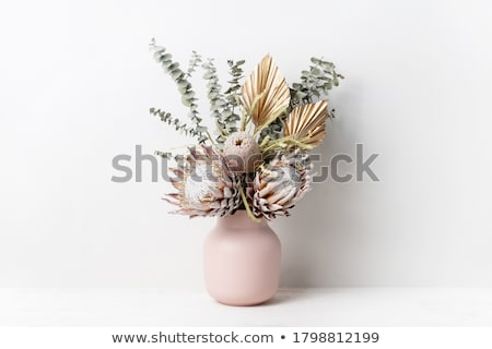 Gouden bloem heldere groene hemel Blauw Stockfoto © luapvision