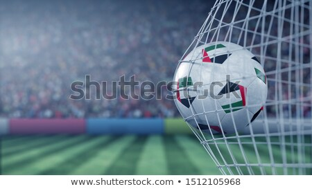 Футбол футбола мяча Объединенные Арабские Эмираты флаг 3D Сток-фото © daboost