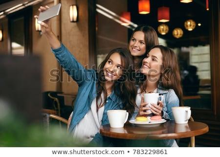 amigos · café · bolinhos · reunião · casal - foto stock © stuartmiles