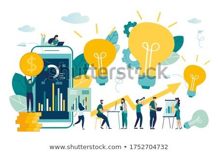 Apoiar pesquisar telefone vidro vermelho comunicação Foto stock © almir1968