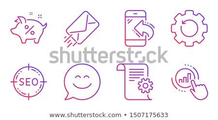 pagina · optimalisatie · business · hoorn · spreker - stockfoto © timbrk