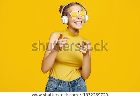 teen · słuchawki · teen · girl · słuchania · kobieta · student - zdjęcia stock © lisafx