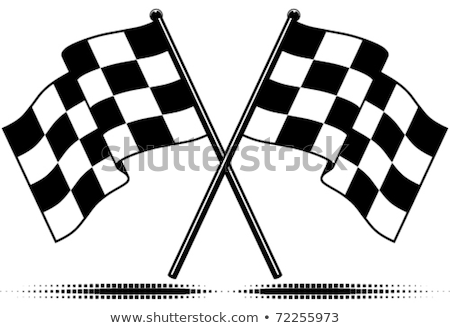 checkered flags two crossed flags stock photo © tashatuvango
