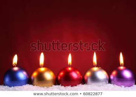 multicolored christmas candles stock photo © maisicon