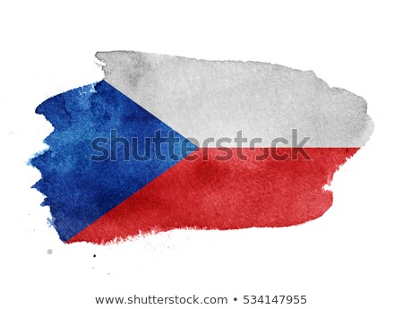Csehország zászló kéz világ kék piros Stock fotó © pinkblue