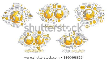 globe with lot of money in orbit Stock photo © pterwort
