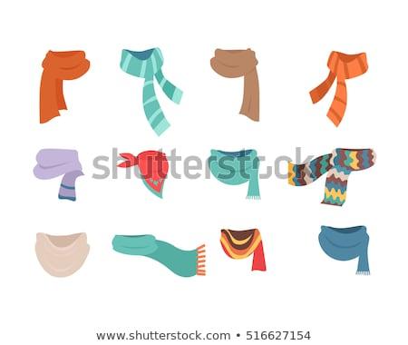 шарф рисованной вектора эскиз иллюстрация моде Сток-фото © perysty