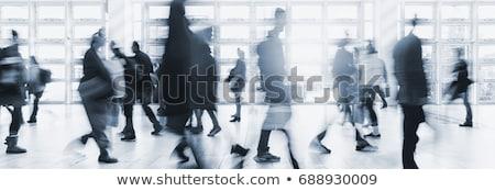 Stock photo: Crowd Walking at Skywalk