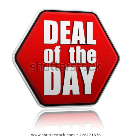 deal of the day red hexagon stock photo © marinini