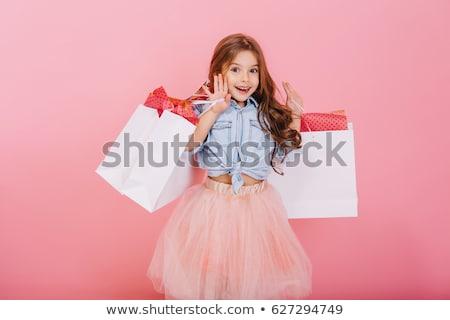 modieus · jonge · brunette · klant · portret · aantrekkelijk - stockfoto © lithian