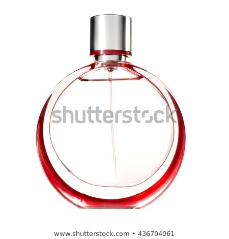 Parfume red bottle isolated Stock photo © ozaiachin