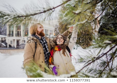 young Couple Fooling Around On The park Stock photo © get4net