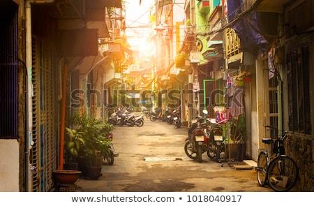 Busy street in Ho Chi Minh City. Vietnam. Stock photo © kyolshin