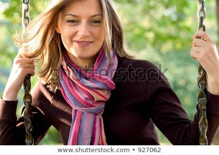 шарф сидят Swing Сток-фото © Andersonrise
