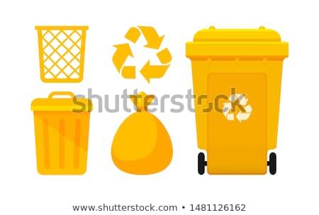 Yellow trash dustbin Stock photo © lunamarina