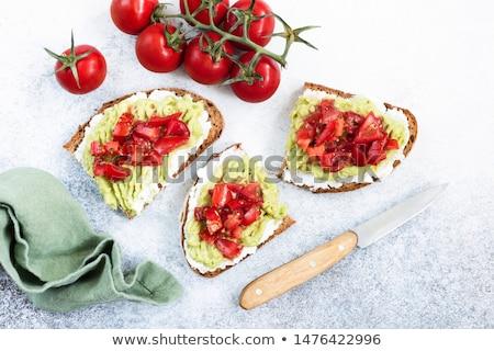 çavdar ekmek peynir domates beyaz Stok fotoğraf © Hofmeester