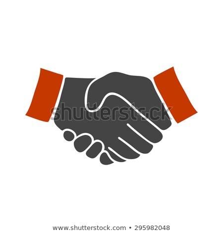 red black handshake Stock photo © Nelosa