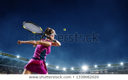 tênis · árbitro · sorridente · tribunal · assistindo · relaxante - foto stock © pxhidalgo
