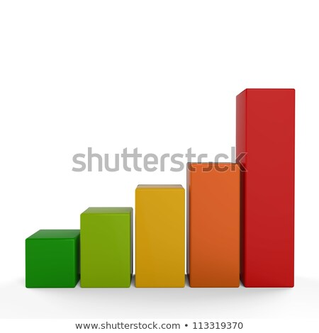 Yellow Glossy Stat Bars Stock photo © cidepix